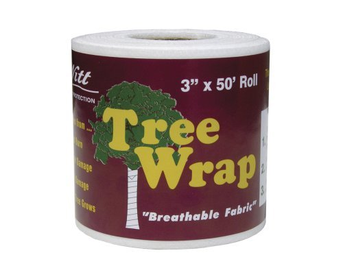 Dewitt 3-Inch by 50-Foot Tree Wrap White TW3W (2 Pack)