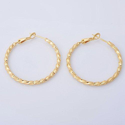 Model Attention Womenu0026#39;s Silvertone Hoop Earrings