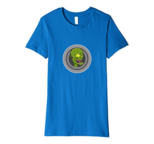 Dead Female Celebrities Costumes (Womens Green zombie Halloween t-shirt Large Royal Blue)