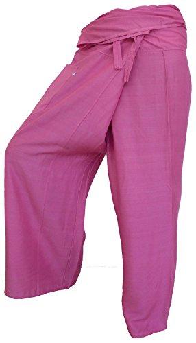 Pêcheur Sport Coton Fisherpant Couleurs Yoga Rose Asie Thaïlande Pantalon By Fisherman Soljo Wrap 29 Mince q0pYAwt8