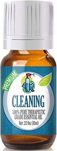 Cleaning Blend 100% Pure, Best Therapeutic Grade Essential Oil - 10ml - Lemongrass, Lemon Eucalyptus, French Lavender, Rosemary , Tea Tree