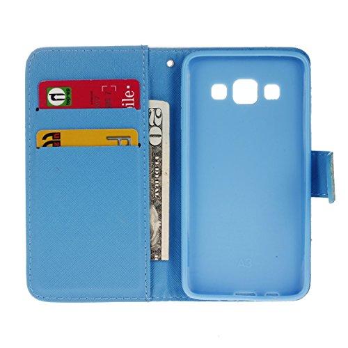 Funda para Samsung Galaxy S7 Edge, Galaxy S7 Edge Funda de PU cuero resistente, Galaxy S7 Edge Ultra Slim PU Cuero Folding Stand Flip Funda Carcasa Caso,Galaxy S7 Edge Leather Case Wallet Protector Ca azul Gaviota