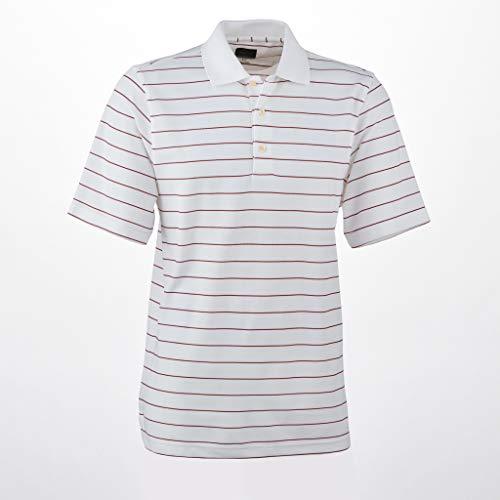 Greg Norman Micro Pique Stripe Polo White/Shiraz ()