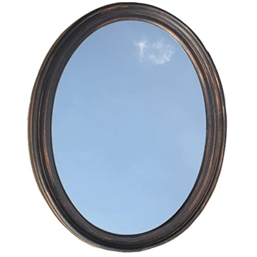Decorative Oval Framed Wall Mirror   Oil Rubbed Bronze