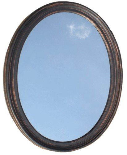 Amazon Com Decorative Oval Framed Wall Mirror Oil Rubbed Bronze