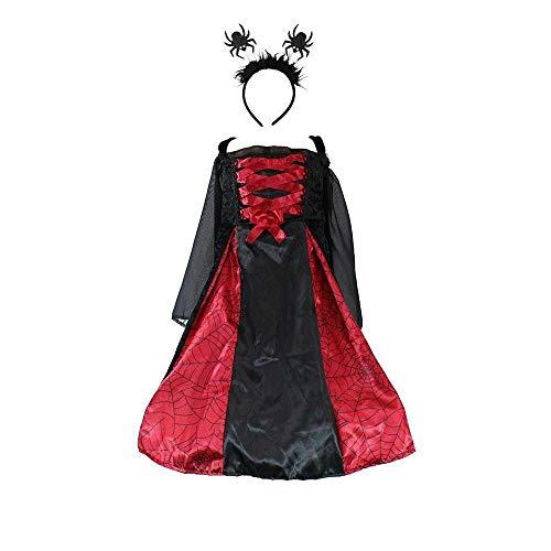 Jason Party Girls Vampire Spider Witch Costume Girls Vampire Spider Queen Costume Fancy Dress Up ()