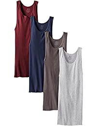 Fruit of the Loom Men's 4Pack Assorted A Shirts Tank Tops Undershirts M