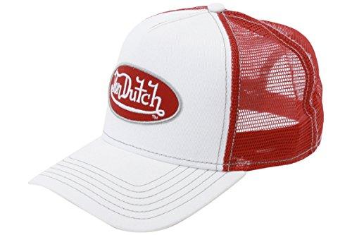 von-dutch-mens-trucker-white-red-patch-cap-hat-one-size-fits-most