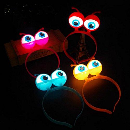 Luminous alien headband Princess Tiaras- LED Multicolor Party Favors(4Pcs) (Light Up Alien)