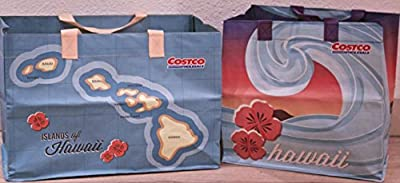 2 Costco Hawaii Reusable Eco Friendly Shopping Bags Tote Hawaiian Islands
