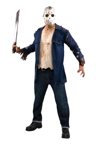 Deluxe Jason Voorhees Adult Costume - Standard]()