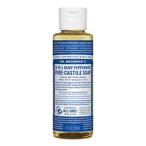 Dr. Bronner's - Pure-Castile Liquid Soap (Peppermint, 4 Ounce)