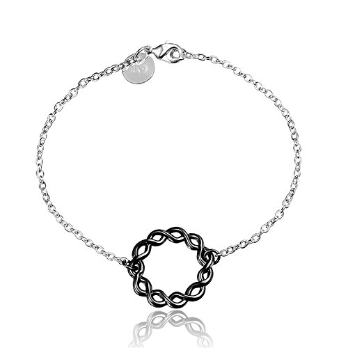 Plus Elegant Witch (BLOOMCHARM Black Charm Pendant Bracelet Sterling Silver plated, Birthday Gifts for Women Men Friends Girls)
