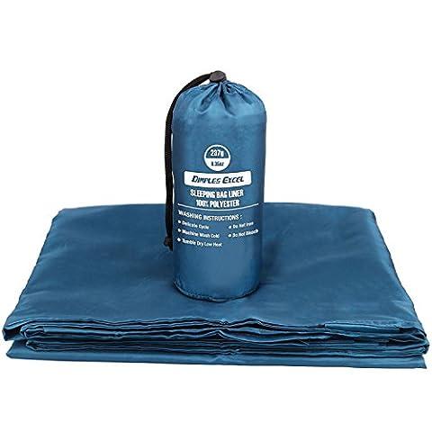 Dimples Excel Sleeping Bag Liner – Monaco Blue