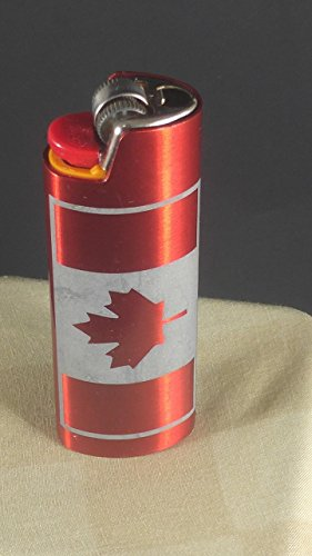 BIC Lighter Cover Metal Blank - Canada Flag (Many (Custom Bic Lighter)