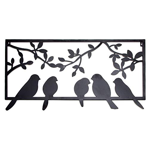 Bits and Pieces - Bird Silhouette Wall Art - Metal Perched Birds Home Décor Accent