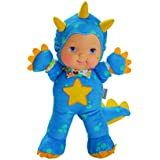 """Baby's First Premium Blue Dino Roar Baby 14"""" Soft Machine Washable Roaring Baby Doll for Boys and Girls 18 Months+"""