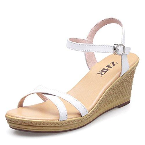 banda Mujer Del zapatos Ocio Coreano Sandalias Plataforma A zapatos De Cuñas Planos Verano Mujer wqWHgEfZW