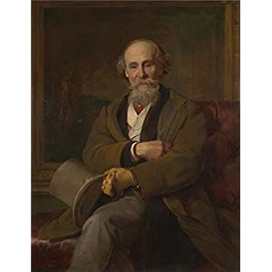 Polyster Canvas ,the Imitations Art DecorativePrints On Canvas Of Oil Painting 'John Callcott Horsley Portrait Of Martin Colnaghi ', 12 X 16 Inch / 30 X 40 Cm Is Best For Foyer Decor And Home Decor And Gifts