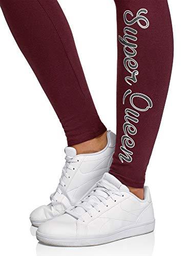 oodji Ultra Femme Legging en Maille avec Inscription