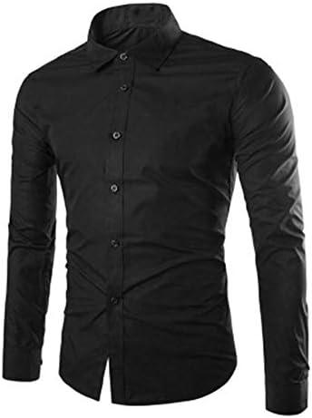 メンズ yシャツ 春 夏 秋 細身 長袖 無地 スリム ワイシャツ カラーシャツ 透けにくい