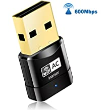 USB Wifi Adapter, AC600 Mini Wireless Network Wifi Dongle for PC /Desktop/Laptop/Tablet, Dual Band (2.4G/150Mbps+5G/433Mbps) 802.11 ac, Support Windows 10/8/8.1/7/Vista/XP/2000, Mac OS 10.4-10.12.6