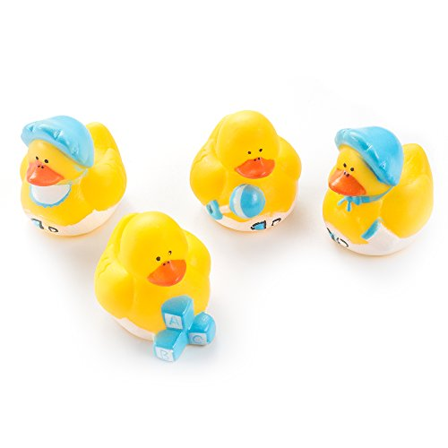 Favors Shower Baby Rubber Duck (Fun Central AZ981 24 Pieces Assorted Baby Shower Rubber Duck, Rubber Duck Baby Shower Party Supplies, Rubber Ducky Bulk for Kids)