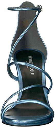 Kenneth Cole New York womens Bryanna Strappy Metallic Leather Dress Sandal Light Blue sbeDh6