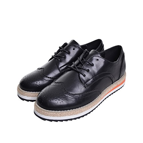 Creepers Dear Brogue Shoes Platform Black Vintage Candy Oxfords Time Colors Sneakers F55qgS1r