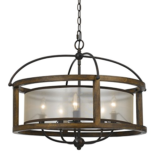Cal Lighting FX-3536/5, 26x26x20.50, Dark Bronze/Stained Reddish Brown from Cal