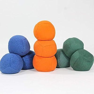Zeekio Thud Juggling Ball Set - Lightweight 90g Beanbag Ball - Super Soft - Set of Three (3) (Blue): Toys & Games