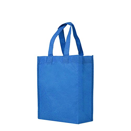Reusable Gift / Party / Lunch Tote Bags - 25 Pack - Electric Blue -