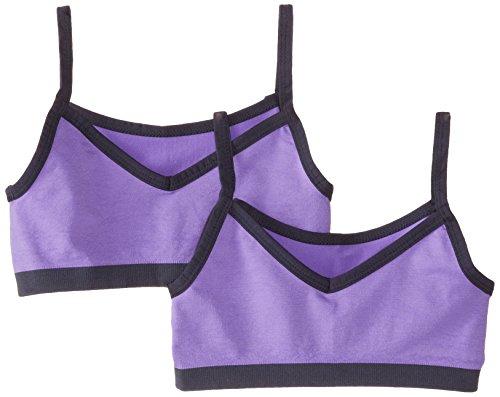 - Jockey Big Girls' 2 Pack Performance 2-Way Seamless Crop Top, Purple, X-Large