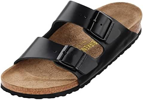 Birkenstock Arizona Soft Footbed Limited Edition Narrow Sandal - Women's Hunter Black Gold Leather, 41.0