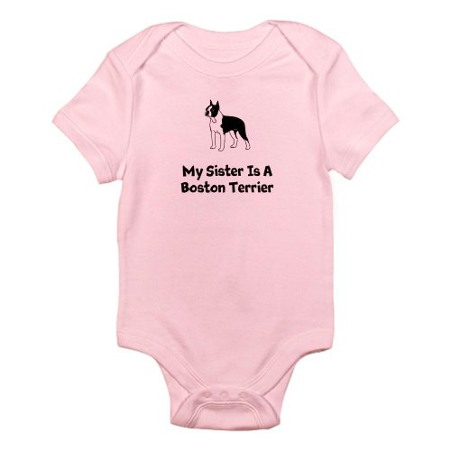 CafePress - My Sister Is A Boston Terrier Infant Body Suit - Cute Infant Bodysuit Baby Romper