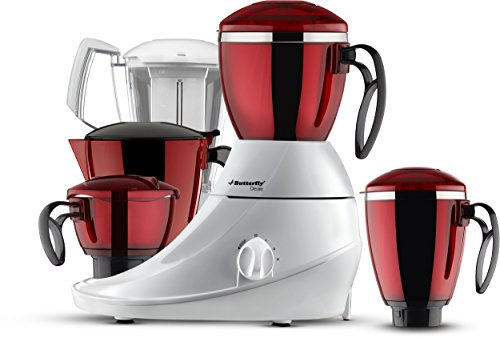 Butterfly Desire Mixer Grinder with 4 Jars (Red and Whi