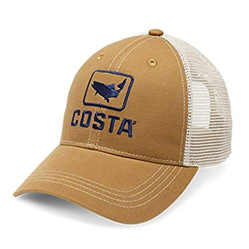 Costa Del Mar XL FitTrout Trucker Hat, Working Brown