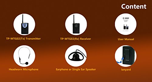Professional TP-Wireless Tour Guide System for Tour Guiding, Teaching, Travel, Simultaneous Translation,Meeting, Museum Visiting(1 Transmitter and 40 Receivers) by TP-WIRELESS (Image #8)