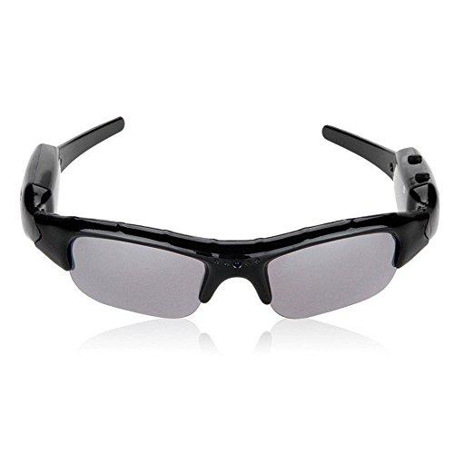 [MEOW MARKET]HD高画質 サングラス型ビデオカメラ/メガネ型ビデオカメラ microSD32GB対応 高解像度1280 960 眼鏡単独録音メガネ 小型カメラ スパイ 防犯 録画 スキー/スノーボード/マリンスポーツ/海水浴/自転車でのアクションカメラに (サングラスタイプ)