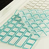 TopCase New Arrival Silicone Keyboard Cover Skin for Macbook Unibody Whtie 13-Inch/Macbook Pro Aluminum Unibody 13, 15, 17-Inch with or without Retina Display/Macbook Air 13-Inch/Old Macbook White 13-Inch/Wireless Keyboard with TopCase Mouse Pad (Aqua Blue)