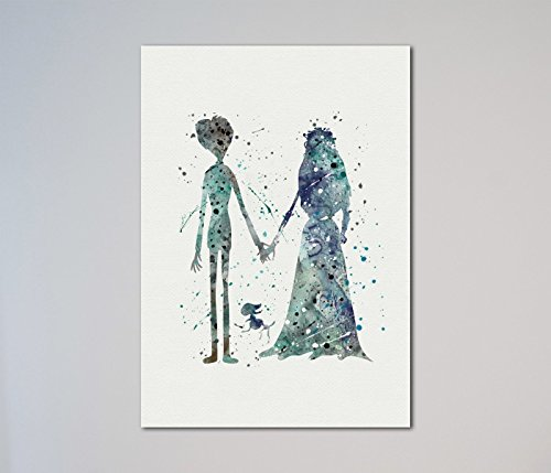 Corpse Bride Emily and Victor Print]()