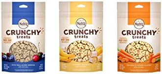 Nutro All Natural Crunchy Training Treats For Dogs 3 Flavor Variety Bundle 1 Nutro Treats W Real Banana, 1 Nutro Treats W Real Mixed Berries, 1 Nutro Treats W Real Carrots, 10 Oz Ea 3 Bags
