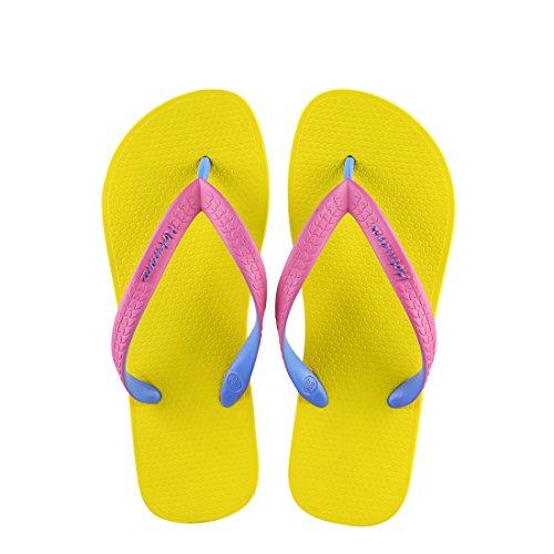 Verano Yellow Boda Pink Piscina Sole Strap Sandalias Mujer Flip para Chanclas Flops Casa Ducha Playa Hotmarzz qw48X7gx8