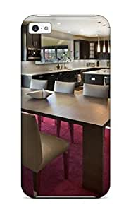 Tough Iphone GGNAUSl9473dKTjE Case Cover/ Case For Iphone 5c(rug Adds Punch Of Color In Neutral Kitchen)