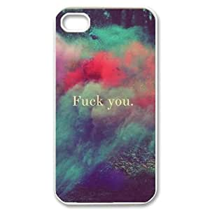 Fuck it Design Top Quality DIY Hard Case Cover for iPhone 4,4S, Fuck it iPhone 4,4S Phone Case