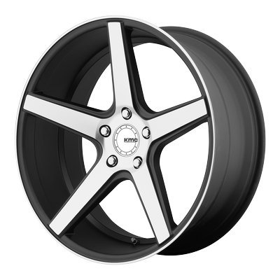One KMC Satin Black Machined Face KM685 District Wheel/Rim - 19x8.5 - 5x114.3 - +35mm ()