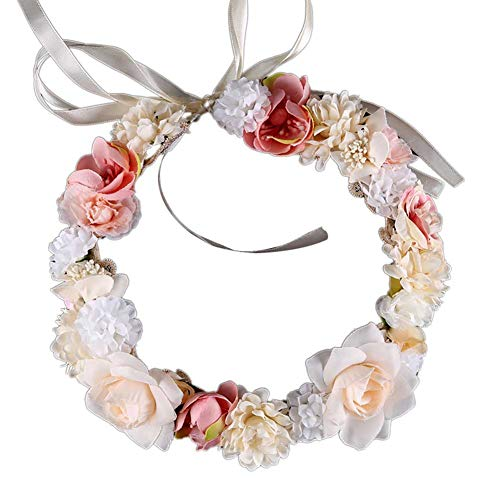 Discount Veils Wedding (MyMei Bridal Tiara Pearl Beads Bride Wedding Crown Flower Headband Party Princess Costume Hair Accessories Decoration)