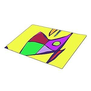 Palepink Yellow Contrast Monogrammed Door Mat