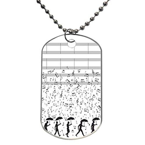 Musical Note Custom Photo Oval Dog Tag Cartoon Goofy Dimensions: 1.2