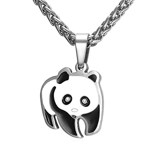 Panda Bear Pendant Necklace Black product image